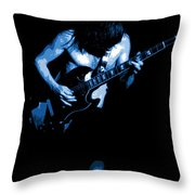 Ac Dc #35 In Blue Throw Pillow