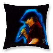 Ac-dc-brian-95-a6-fractal Throw Pillow