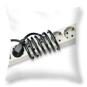 Ac Power Plug And Sockets Throw Pillow