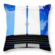 Ac Shelby Cobra Grille - Hood Emblem Throw Pillow