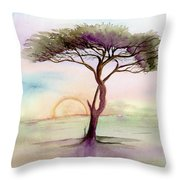 Acacia Sunrise Throw Pillow