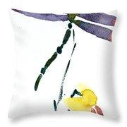 Acacion Dragonfly Throw Pillow