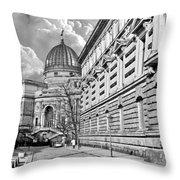 Academy Of Arts Dresden Throw Pillow