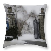 Academy Of Notre Dame - School For Girls Throw Pillow
