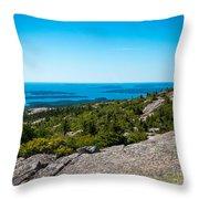 Acadia Blue Throw Pillow