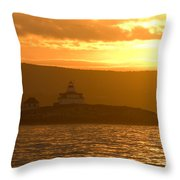 Acadia Lighthouse  Throw Pillow