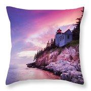 Acadia Sunset Throw Pillow
