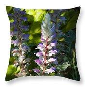 Acanthus Flower Throw Pillow
