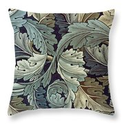 Acanthus Leaf Design Throw Pillow by William Morris