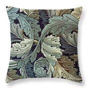 Acanthus Leaf Design Throw Pillow