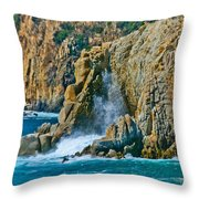 Acapulco Cliffs Throw Pillow