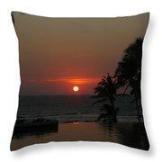 Acapulco Red Throw Pillow