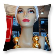 Accent Necklace Throw Pillow