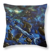Accidental Asteroid Throw Pillow