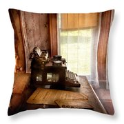 Accountant - My Little Office  Throw Pillow by Mike Savad