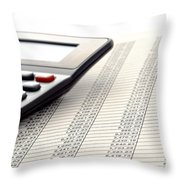 Accounting Throw Pillow