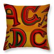 Acdc Throw Pillow