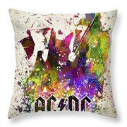 Acdc In Color Throw Pillow