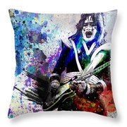 Ace Frehley - Kiss Original Painting Print Throw Pillow