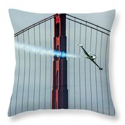 Ace Maker And The Golden Gate Throw Pillow
