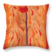 Ace Of Wands Throw Pillow
