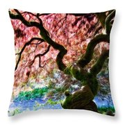 Acer Abstract Throw Pillow