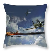 Aces High Throw Pillow
