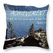 Achieve Throw Pillow