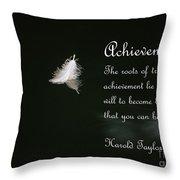 Achievement Throw Pillow