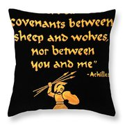 Achilles Admonition Throw Pillow