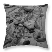 Achnahaird Beach Bw Throw Pillow