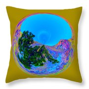 Acid Desert Orb Throw Pillow