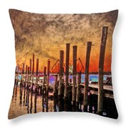 Acid Washed Throw Pillow