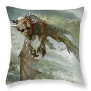 Acidic Imp Throw Pillow