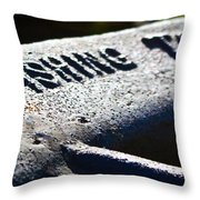Acme Fishing Tool Throw Pillow