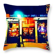 Acme Oyster Shop New Orleans Throw Pillow