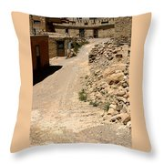 Acoma Pueblo Street Scene Throw Pillow