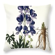 Aconitum Napellus Throw Pillow