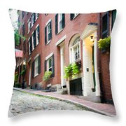 Acorn Street 2 Throw Pillow