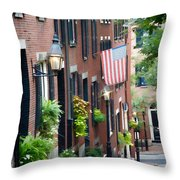 Acorn Street Throw Pillow