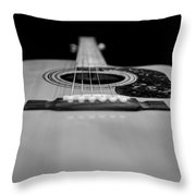 Acoustic Black And White Throw Pillow