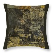 Acoustic Grunge Guitar 1 Throw Pillow