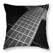 Acoustic Guitar Throw Pillow