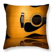Acoustic Guitar Reflected Throw Pillow