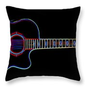 Acoustic Steel 6 Throw Pillow