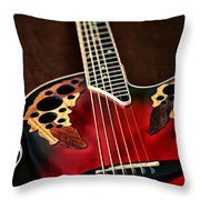 Acoustical Red Throw Pillow