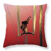 Acrobatic Aerial Artistry1 Throw Pillow by Anne Mott