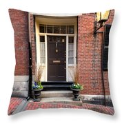 Acorn Street Door And Lamp Throw Pillow