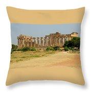 Acropolis Of Selinunte Throw Pillow