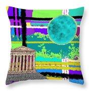 Acropolis Plaid Throw Pillow
